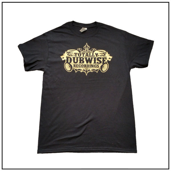 Totally Dubwise Recordings T-shirt Gold Logo