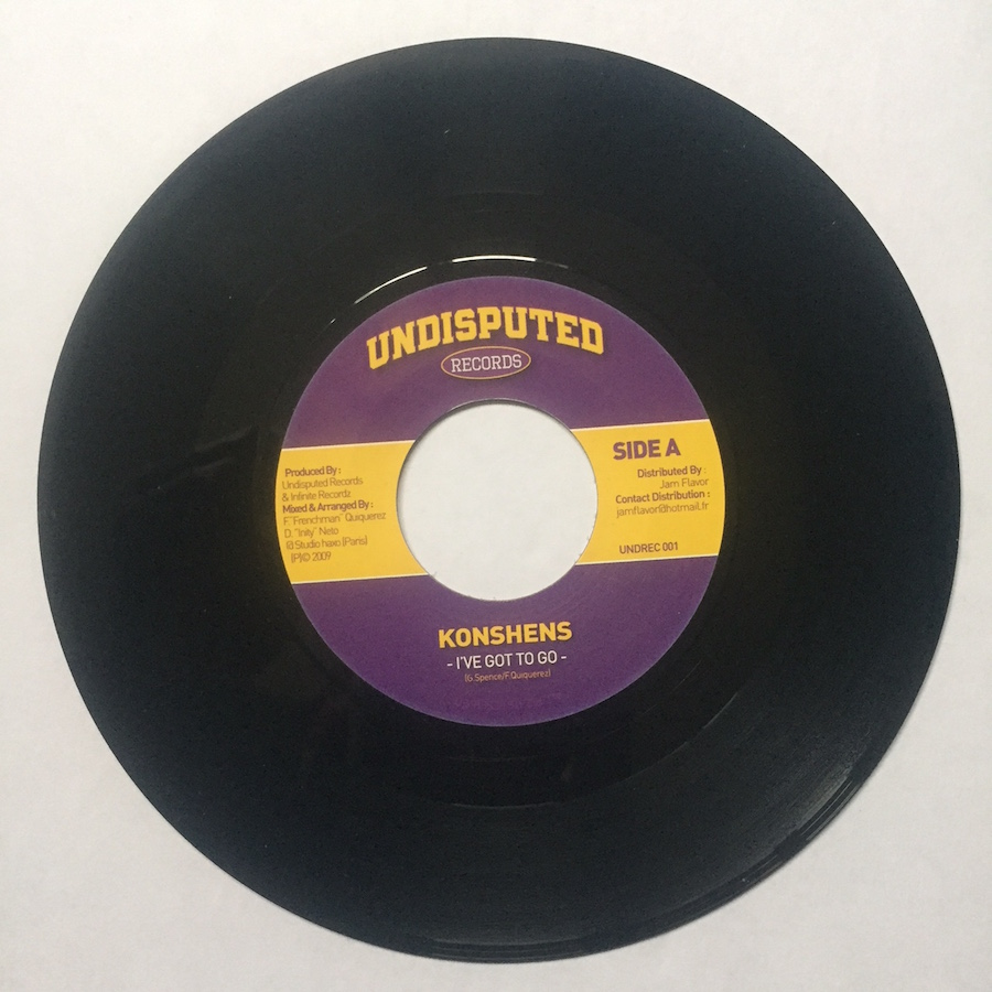 "Konshens I've Got To Go 7"" vinyl"
