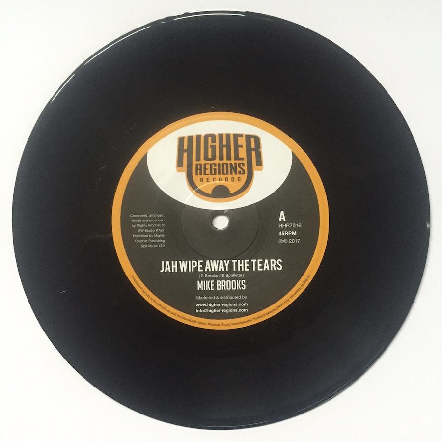 Mike Brooks Jah Wipe Away The Tears 7 vinyl