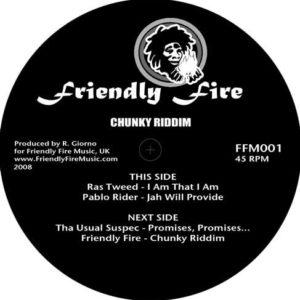 Friendly Fire Band Chunky Riddim 12 vinyl