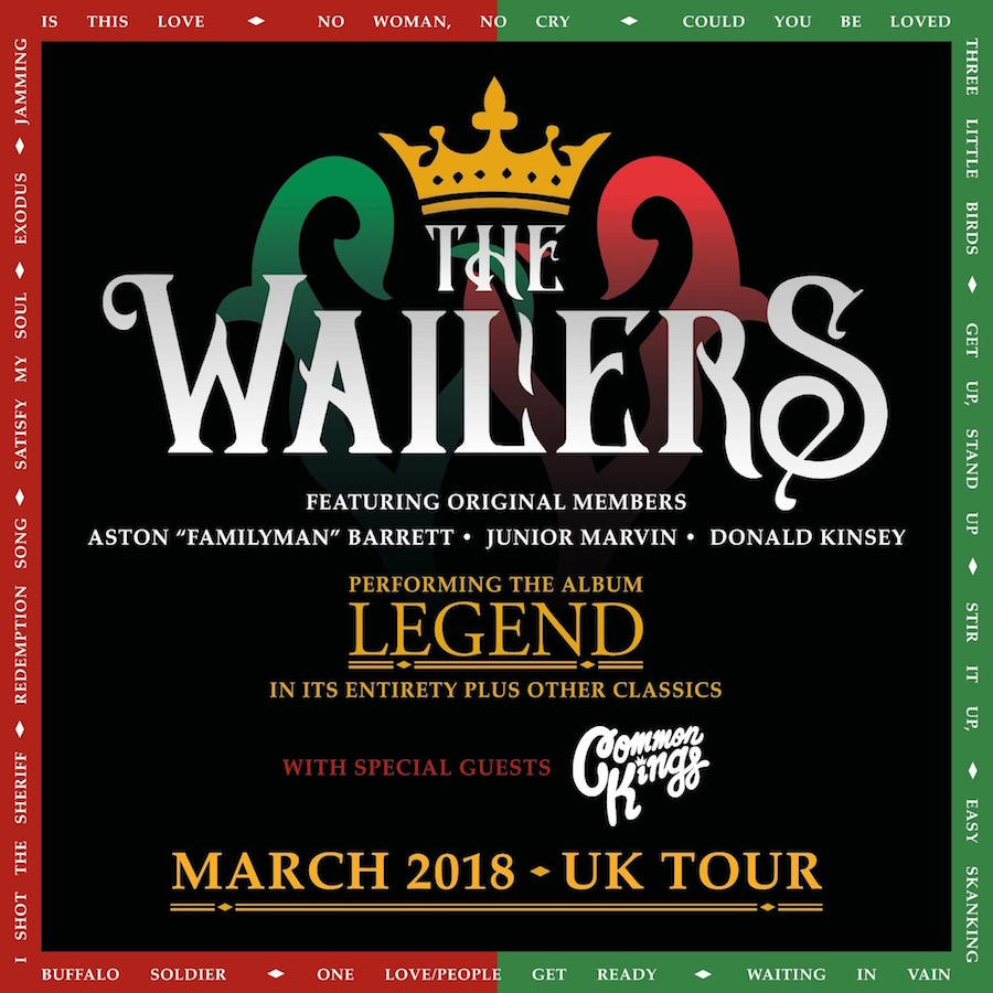 Wailers UK Headline Tour 2018