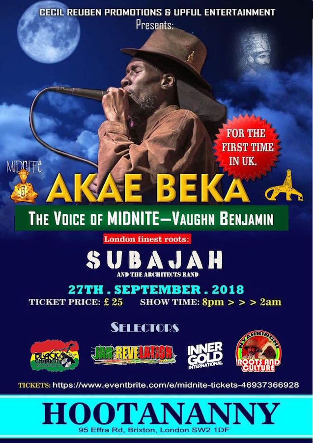 Akae Beka First Ever UK Performance Event