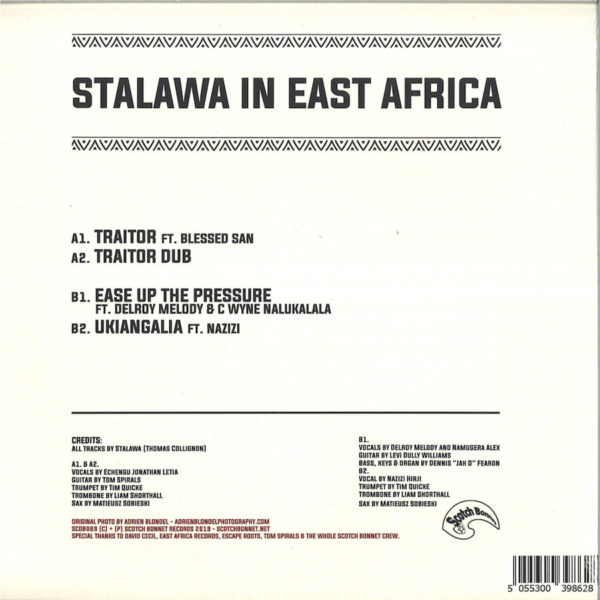 Stalawa In East Africa 12 vinyl back sleeve RSD19 Special