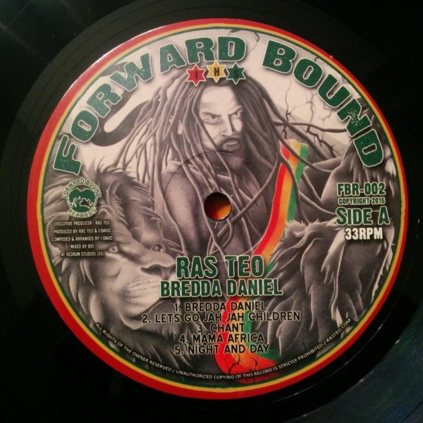 Ras Teo Bredda Daniel 12 vinyl LP