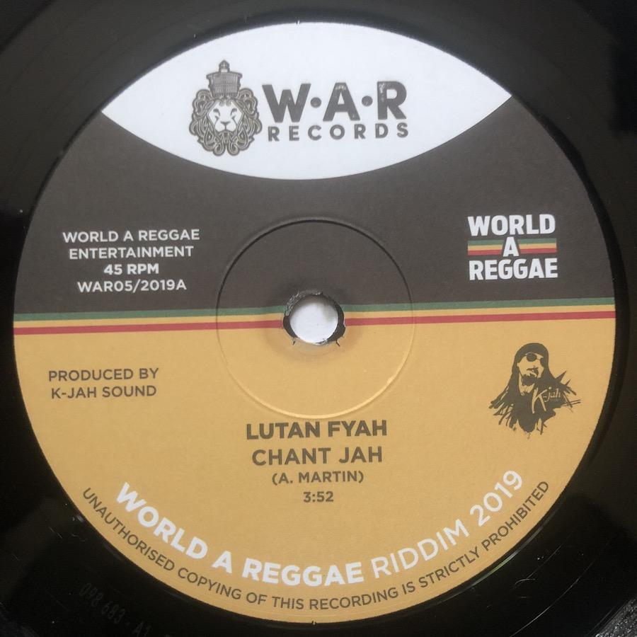 Lutan Fyah Chant Jah 7 vinyl