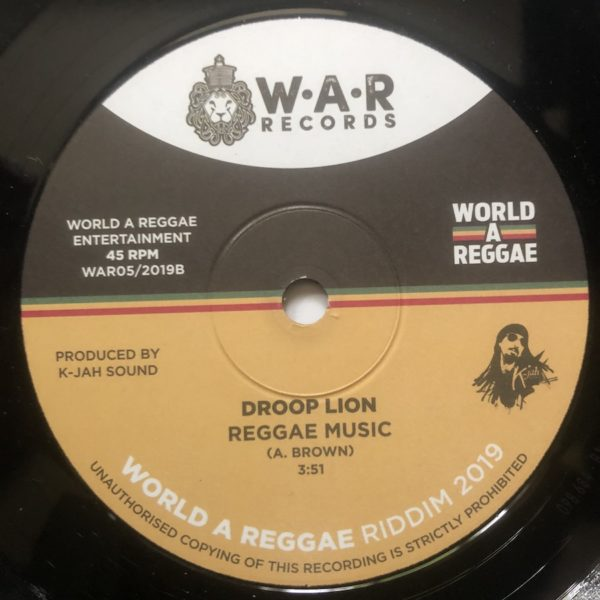 Droop Lion Reggae Music 7 vinyl