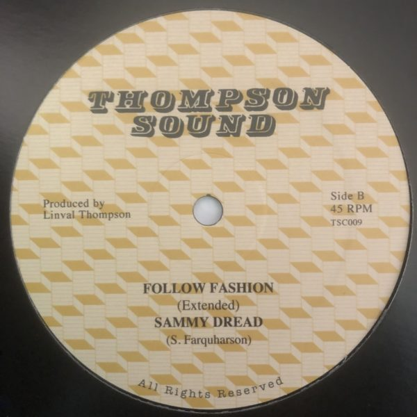 Sammy Dread Follow Fashion 12 vinyl