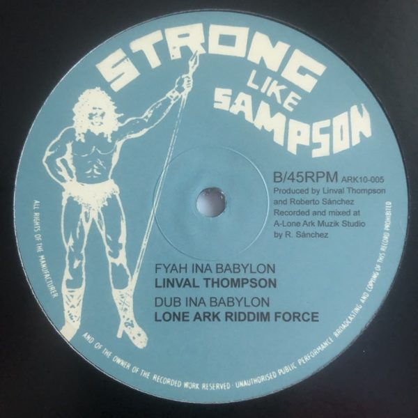 Linval Thompson Fyah Ina Babylon 10 vinyl