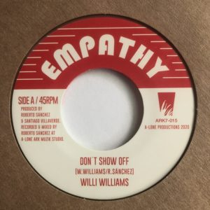Willi Williams Don't Show Off 7 vinyl