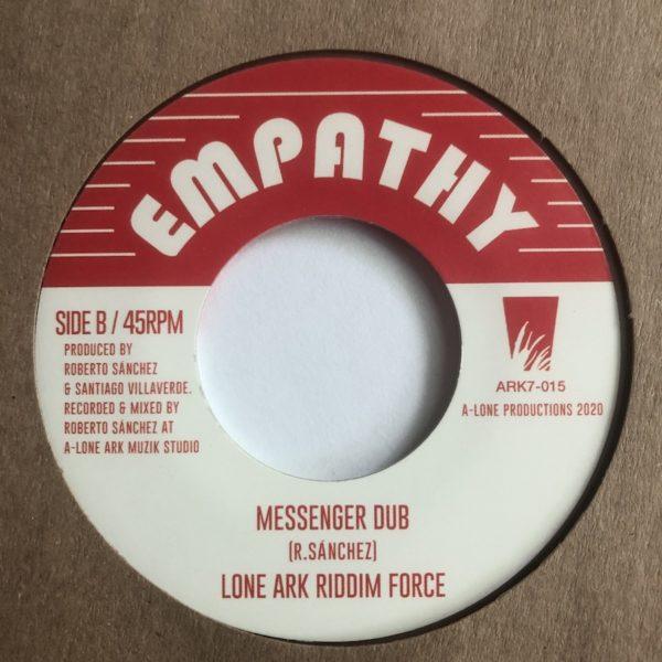 Lone Ark Riddim Force Messenger Dub 7 vinyl