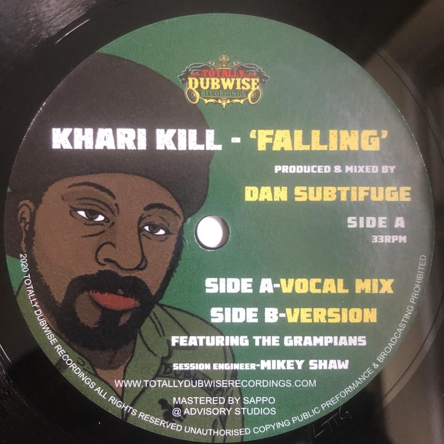 Khari Kill Falling 7 vinyl lathe cut