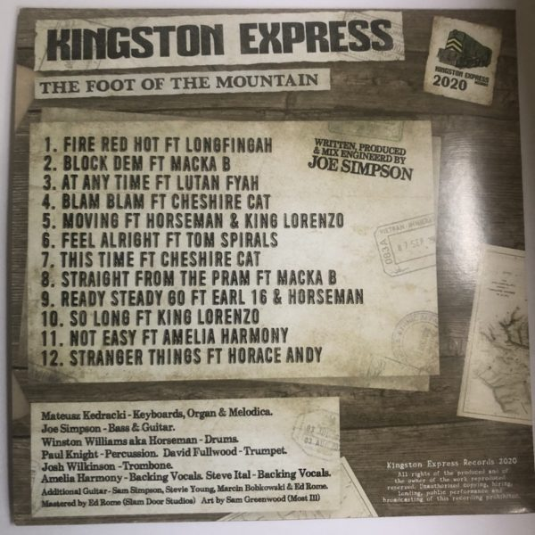 Kingston Express The Foot Of The Mountain CD back cover