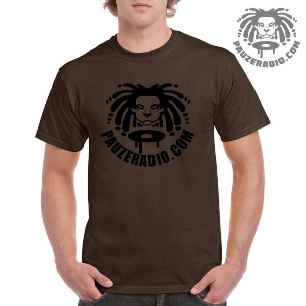 Pauzeradio Logo T-Shirt Chocolate Brown