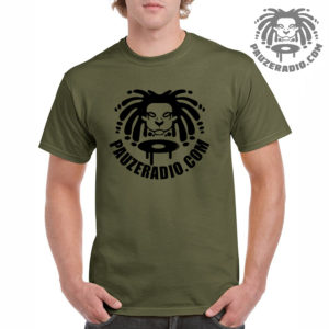 Pauzeradio Logo T-Shirt Military Green