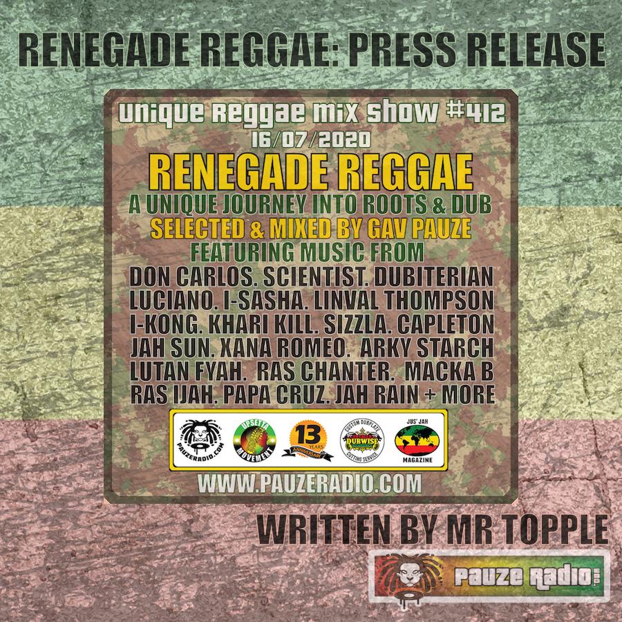 Renegade Reggae Press Release