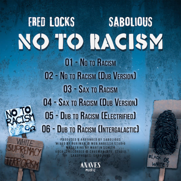 Fred Locks No To Racism EP CD Back
