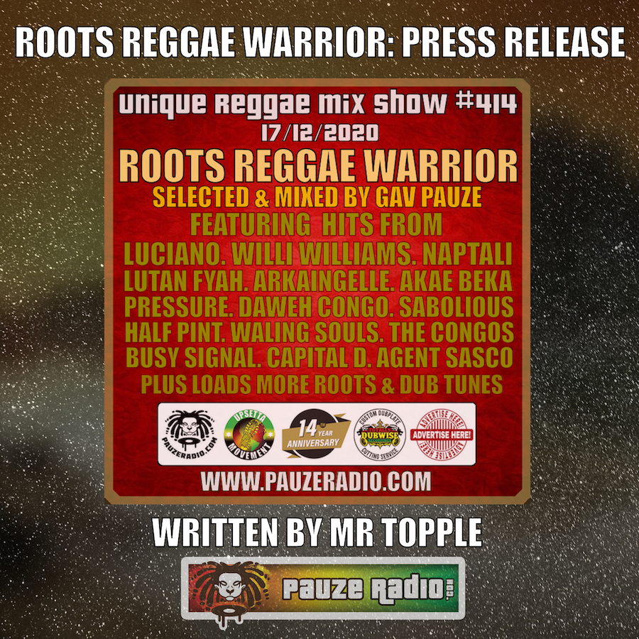 Roots Reggae Warrior Press Release