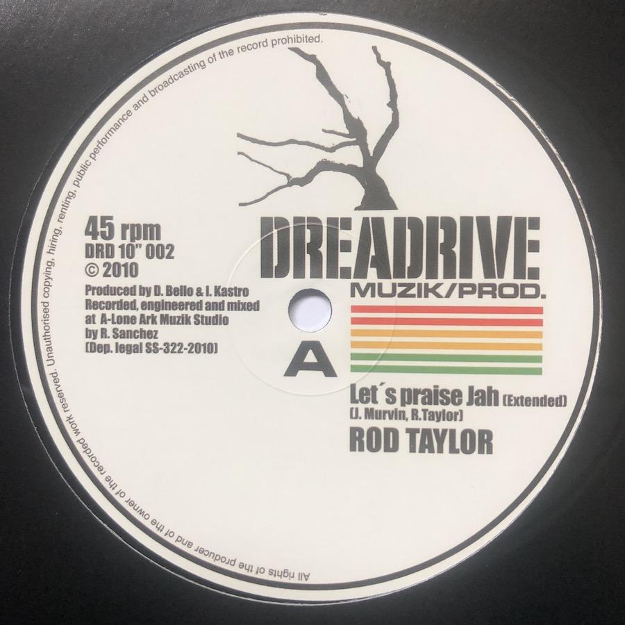 Rod Taylor Lets Praise Jah 10 vinyl