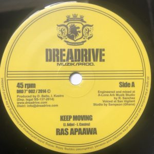 Ras Apaawa Keep Moving 7 vinyl