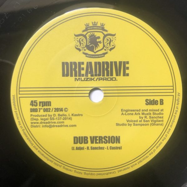 Ras Apaawa Keep Moving Dub 7 vinyl