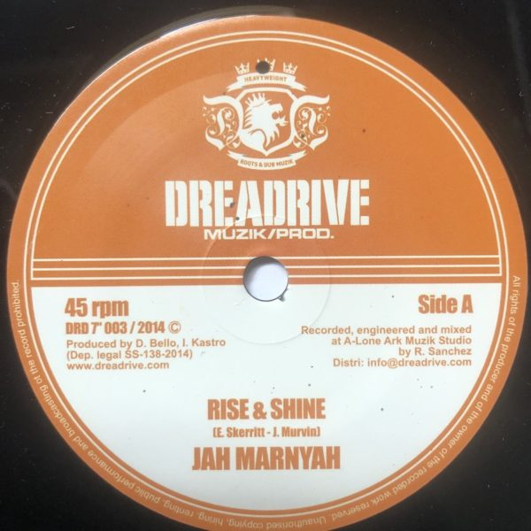 Jah Marnyah Rise & Shine 7 vinyl