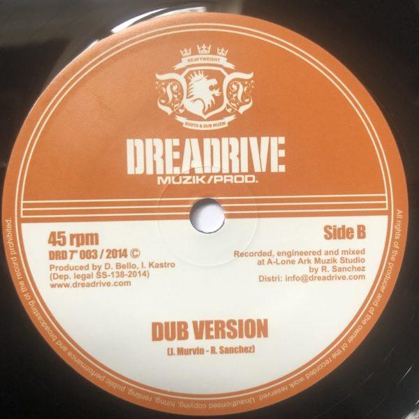 Jah Marnyah Rise & Shine Dub 7 vinyl