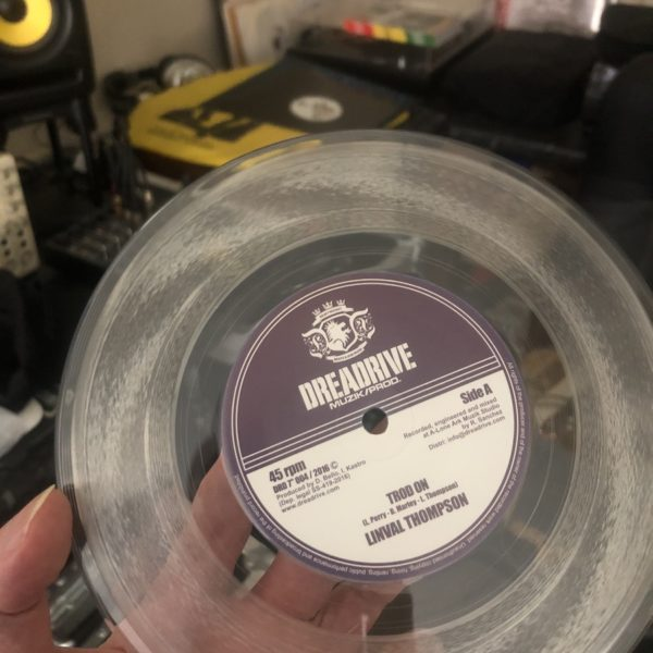 Linval Thompson Trod On 7 clear vinyl