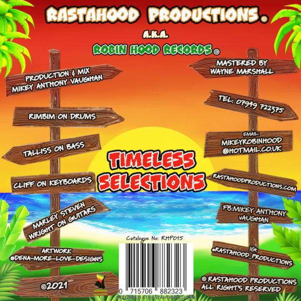 Timeless Selections Riddim CD back