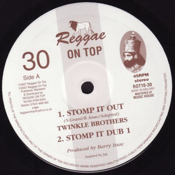 The Twinkle Brothers Stomp It Out 10 vinyl
